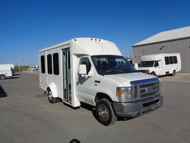 2011 Starcraft Ford 8 Passenger and 2 Wheelchair Shuttle Bus Passenger side exterior front angle-U10148-1