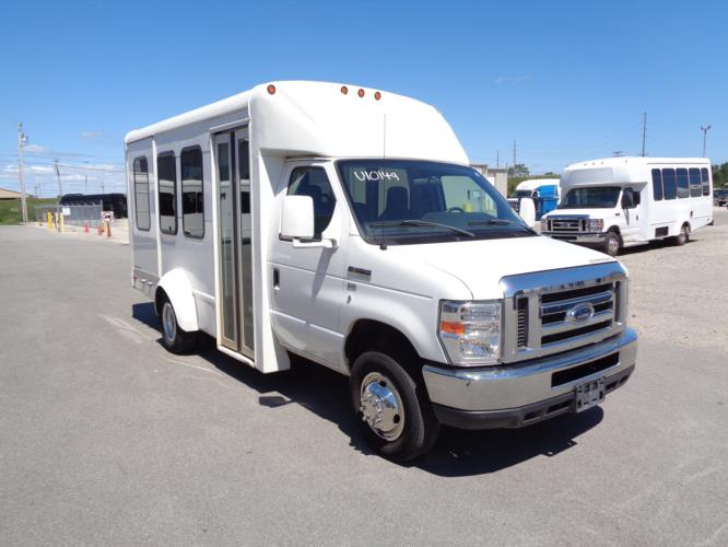 2011 Starcraft Ford 8 Passenger and 2 Wheelchair Shuttle Bus Passenger side exterior front angle-U10149-1