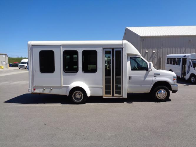 2011 Starcraft Ford 8 Passenger and 2 Wheelchair Shuttle Bus Driver side exterior front angle-U10149-2