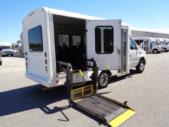 2011 Starcraft Ford 8 Passenger and 2 Wheelchair Shuttle Bus Passenger side exterior rear angle-U10149-3