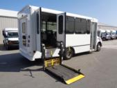 2017 World Trans Ford 8 Passenger and 4 Wheelchair Shuttle Bus Passenger side exterior rear angle-U10164-3