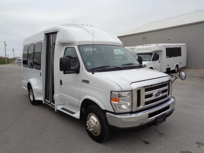 2017 Turtle Top Ford 14 Passenger Shuttle Bus Passenger side exterior front angle-U10234-1