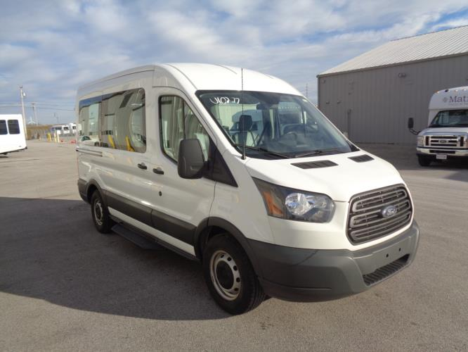 2018 Ford Transit Van Ford 4 Passenger and 1 Wheelchair Van Passenger side exterior front angle-U10277-1