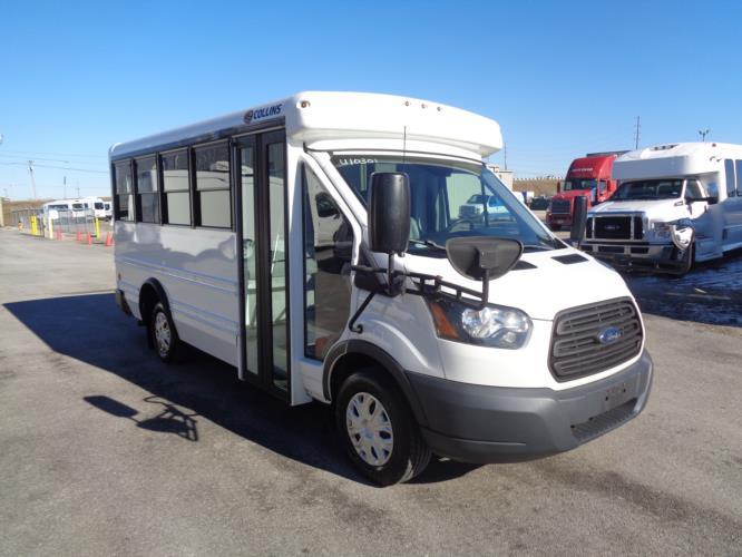 2016 Collins NexBus Ford 14 Passenger MFSAB Passenger side exterior front angle-U10301-1