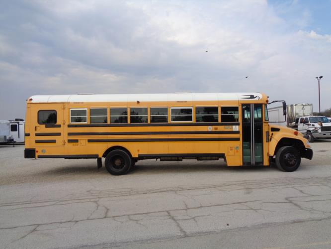 2012 Blue Bird 36 Passenger and 3 Wheelchair School Bus Driver side exterior front angle-U10394-2