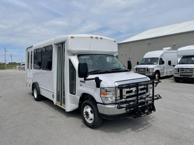 2019 Champion Ford 6 Passenger and 3 Wheelchair Shuttle Bus Passenger side exterior front angle-U10549-1