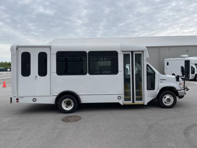 2019 Champion Ford 6 Passenger and 3 Wheelchair Shuttle Bus Driver side exterior front angle-U10549-2