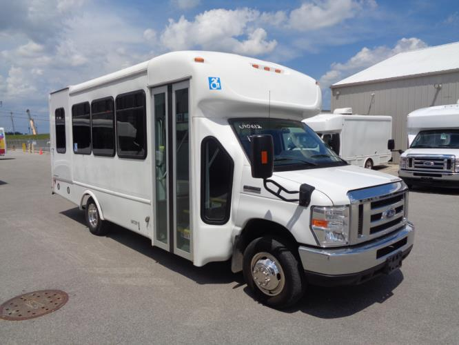 2017 Starcraft Ford 8 Passenger and 4 Wheelchair Shuttle Bus Passenger side exterior front angle-U10612-1