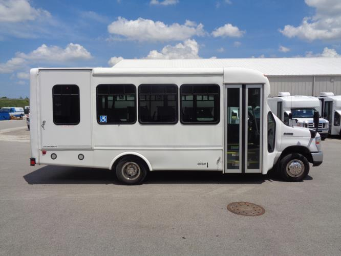 2017 Starcraft Ford 8 Passenger and 4 Wheelchair Shuttle Bus Driver side exterior front angle-U10612-2