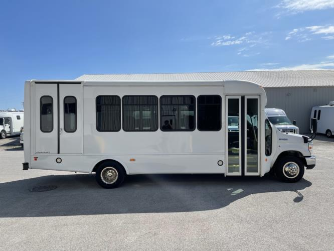 2016 Starcraft Ford 2 Passenger and 7 Wheelchair Shuttle Bus Driver side exterior front angle-U10704-2